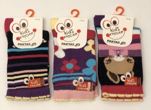 3 Pairs Girl/'s Children Kids Bamboo Soft Anti Bacterial Exclusive Socks 7-8Years