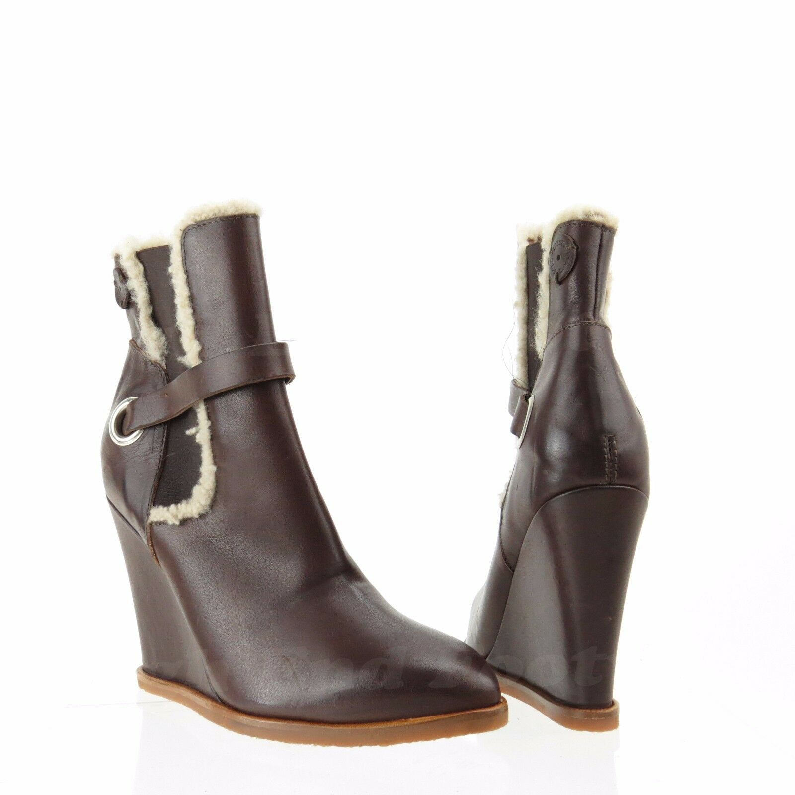 design semplice e generoso Diesel nero & oro 93243 93243 93243 Donna  Dark Marrone Leather Wedge stivali Sz 36 NEW  325  acquista la qualità autentica al 100%