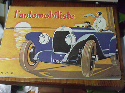 avant trains moteurs 1894-1905 Bugatti type 59 Tricar F.N L/'automobiliste N°49