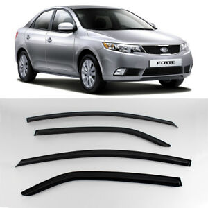 Smoke Window Sun Vent Visor Rain Deflector Guards K086 For KIA 09-12 Forte Sedan