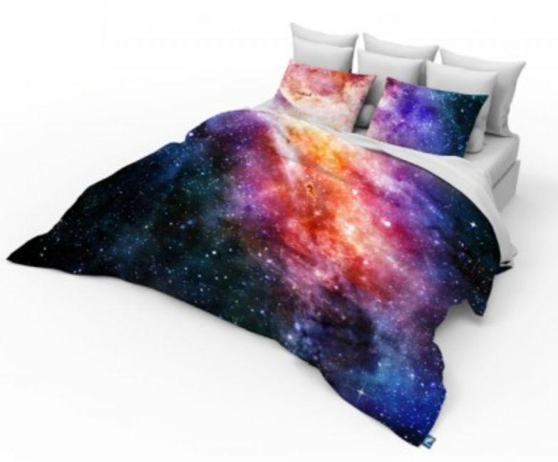 3D Einzeln, Doppel, King Größe Galaxy Bettwäsche Set Weltraum Sterne Univers