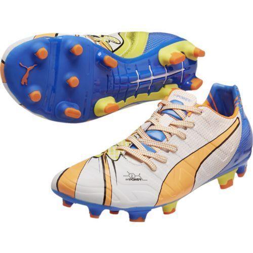 Puma Herren evoKNIT Astro Turf Fußballschuhe Trainingsschuhe Non Marking Sohle Schuhe