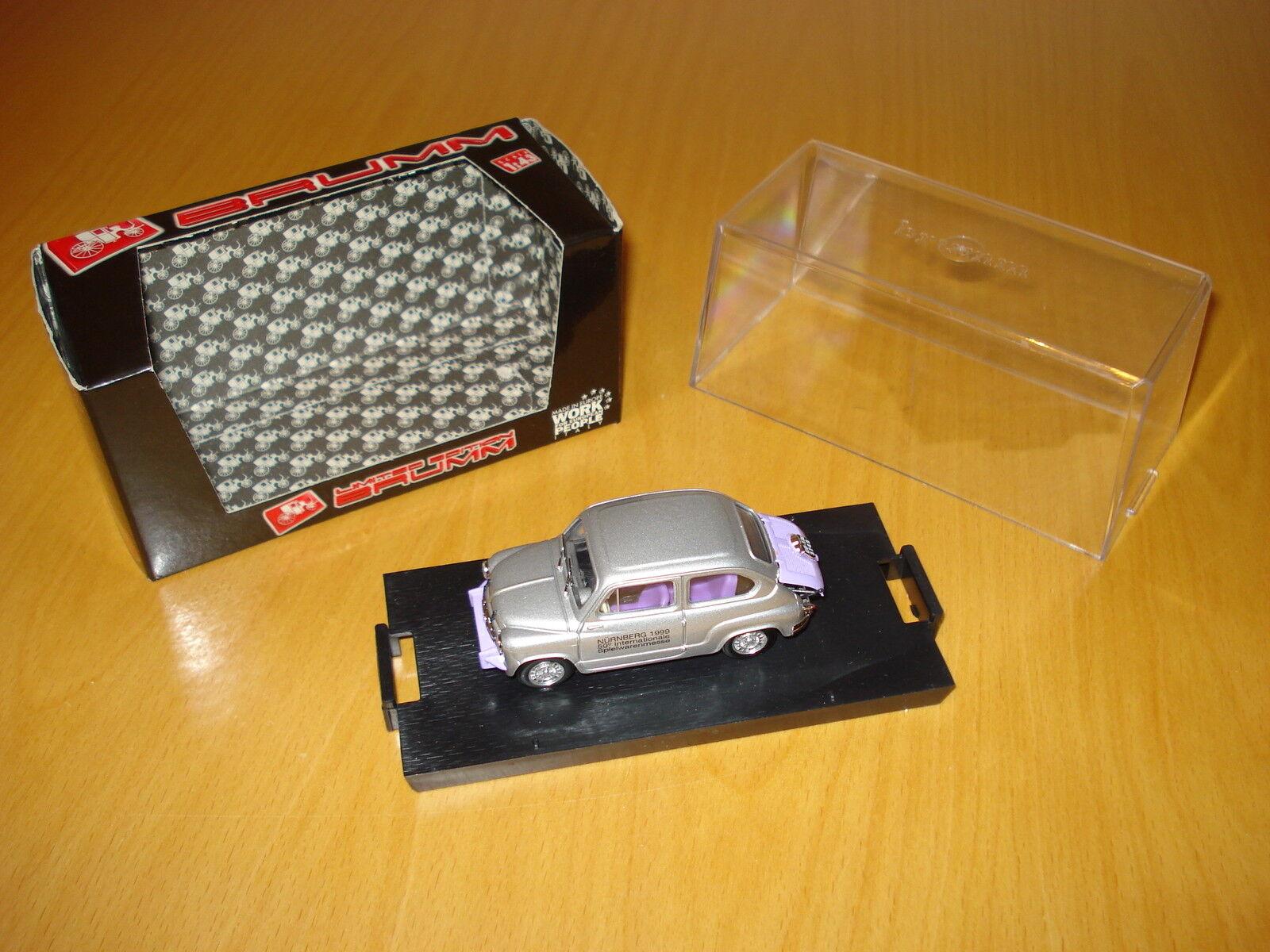 """►Brumm S99 01 Promo Model Fiat Abarth 750 """"50° Toy Fair Nürnberg 1999""""◄"""