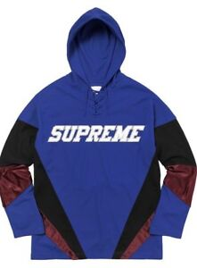 Supreme FW17 Hooded Hockey Jersey Royal Blue Sz Medium | EBay