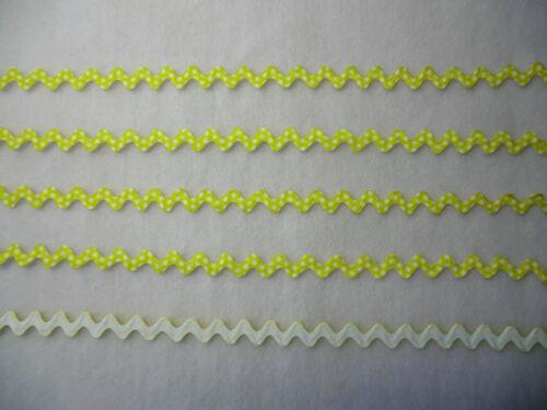 recorte tarjeta Ribete Juguetes .9 Tonos 1mtr stephanoise 10mm Spot impresión RICRAC Trenza