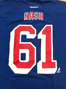new concept 5caed 1566b Details about Rick Nash New York Rangers VINTAGE Reebok NHL Shirt
