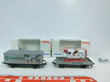 AW851-0,5# 2x Märklin/Marklin H0/AC Metabo-Güterwagen: 94063+94064, NEUW+OVP