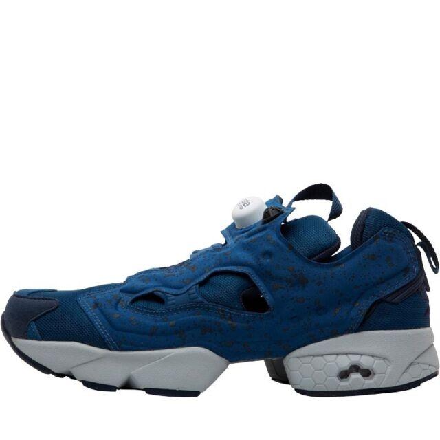 20c2fbd99af7 Reebok Insta Pump Fury SP Noble Blue Grey Mens Casual Shoes SNEAKERS ...