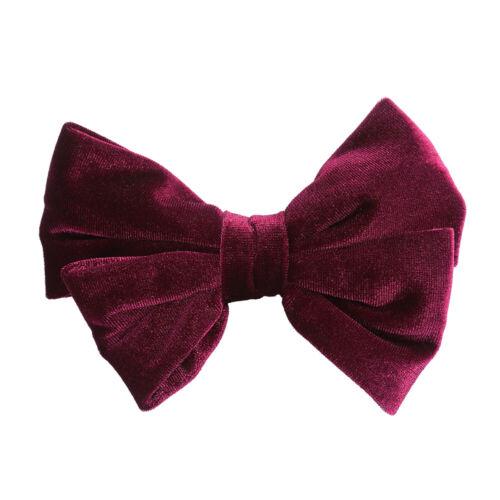 Women/'s Velvet Bow Tie Hair Clips Slide Bow Ponytail Holders Hair Accessories