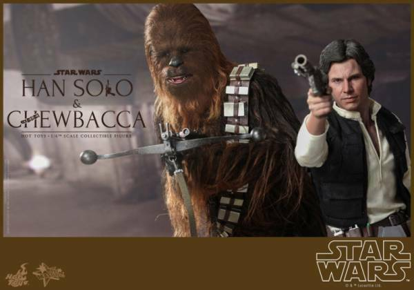 Neu Hot Toys Star Wars Han Solo und Chewbacca 1 6 Maßstab Figur Set Normal Ver