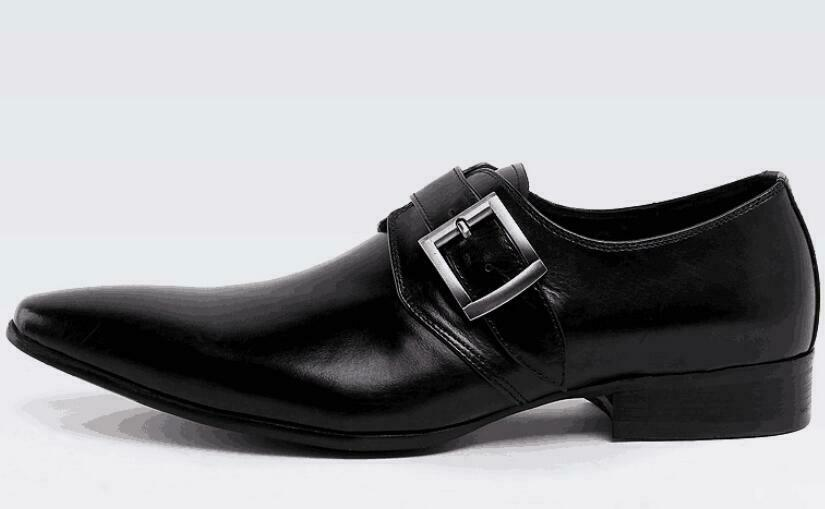 Genuine Leather Boots Belted Brogue Dress Formal shoes Sz Mens Handmade Oxfords