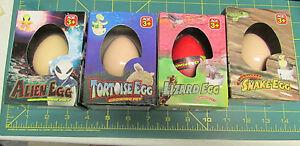 NEW-IN-Package-set-of-4-Growing-pet-eggs-Lizard-Alien-Tortoise-amp-Snake-Fun