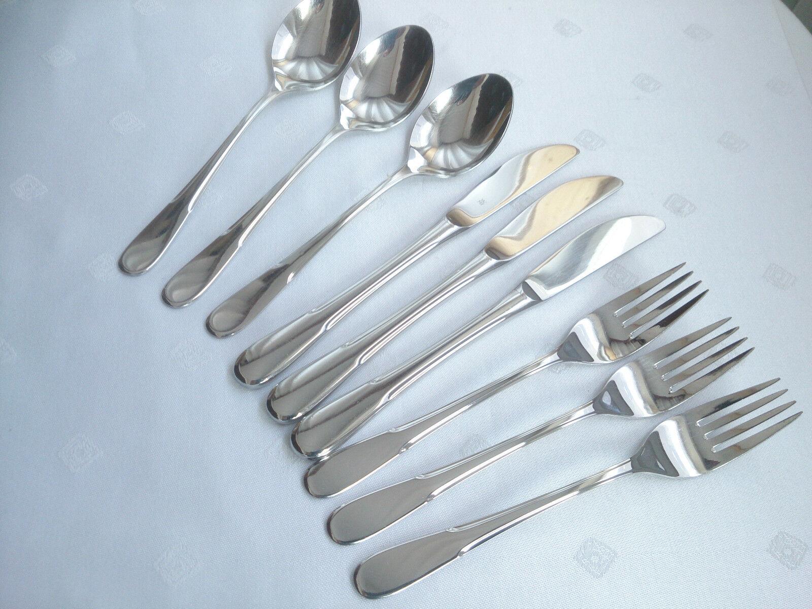 WMF Bamberg Cromargan Couverts 3 personnes 9 pièces couteau fourchette cuillère Top