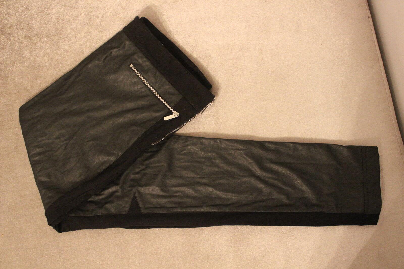 Karen Millen skinny tasca con con con zip jeans jeggins PANNELLO Pantaloni Slim Stretch 10 - 12 f28abe
