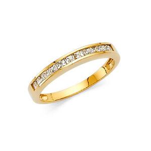 2mm-14k-Yellow-Gold-0-75-Ct-Diamond-Princess-Cut-Channel-Set-Ring-Wedding-Band