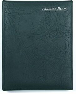 Collins-A5-Black-Ringbound-Address-amp-Telephone-Index-Record-Book-amp-Refills-835