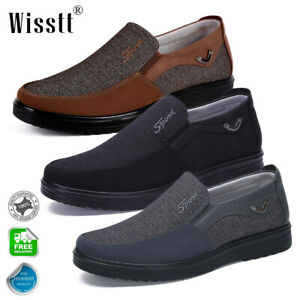 men's flats slip on driving moccasins shoes breathable