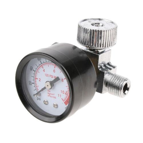 "1//4/"" Threads Mini Air Regulator Tail Control Pressure Gauge For Spray Gun"