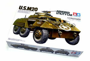 Tamiya-Military-Model-1-35-U-S-M20-Armored-Utility-Car-Scale-Hobby-35234