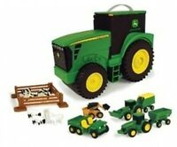 John Deere Fun On The Go Tractor Case Includes 18 Accessories (tbek35747)
