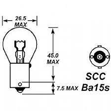 10 X 24V 21W 241 STOP INDICATOR REAR FOG REVERSE LIGHT BULBS SINGLE CONTACT