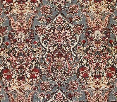 "Upholstery 54"" wide Duchess Navy Damask Jacquard  Drapery fabric by the yard"