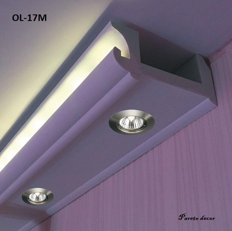 12 Meter LED Spots Lichtstrahl Profil für indirekte Beleuchtung XPS OL-17 Weiß