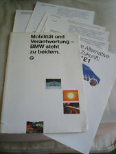 BMW E1 brochure pack 1991 German text