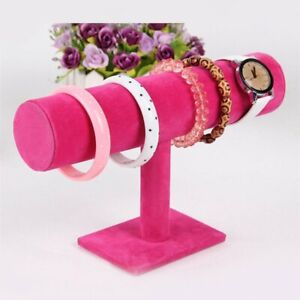 Jewelry-Rack-Bracelet-Watch-Necklace-Stand-Organizer-Holder-Display-Rose-Red-FF