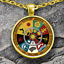 Game-Of-Thrones-Necklace-House-Sigils-Pendant-Gold-Plated-GOT-Pendant-Xmas-gift thumbnail 1