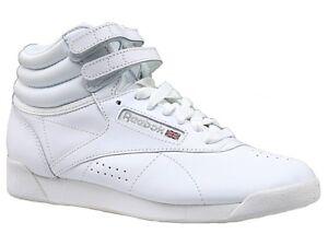 4facfa7064c Reebok Freestyle Hi Women Classic Trainers in White 2431 UK 4 EU 37 ...