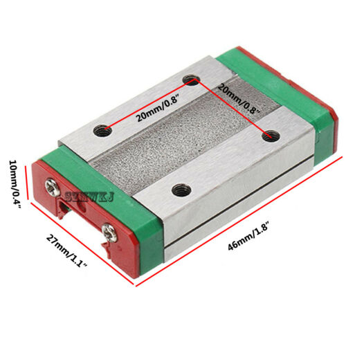 250mm-550mm MGN12H Linear Sliding Rail Miniature Guide Block CNC DIY 3D Printer