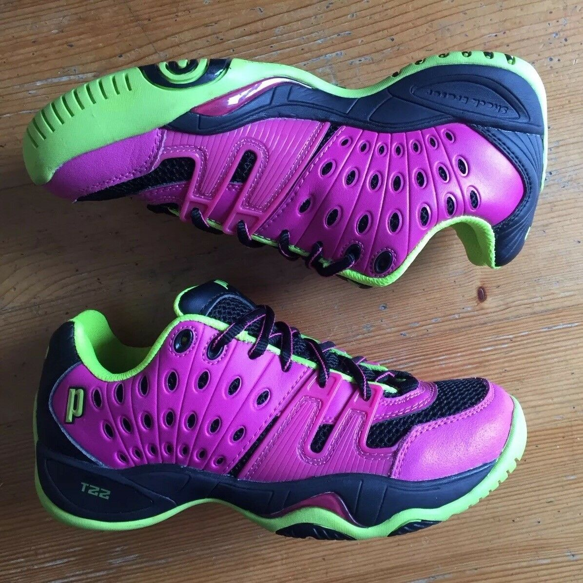 Prince T22 Tennis shoes Women's UK Size 4.5 4.5 4.5 EU 37.5 Pink Neon Yellow Trainers ccaf6c