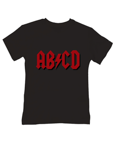 Children/'s Baby T-Shirt Funny Band Parodie Silly Toddler ABCD ////