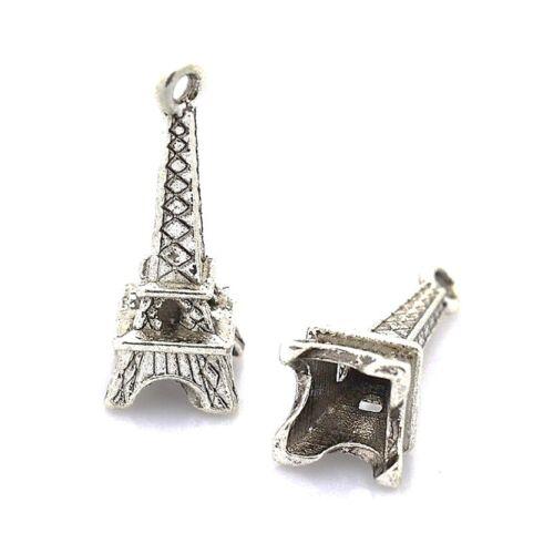 5 Tibetan Silver Eiffel Tower Charms Pendants