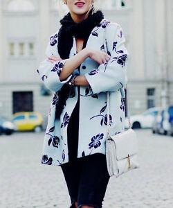 Zara kimono chaqueta blumenprint flores floral printed