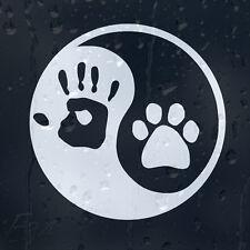Dog Paw Ying Yang Hand Print Sign Car Or Laptop Decal Vinyl Sticker
