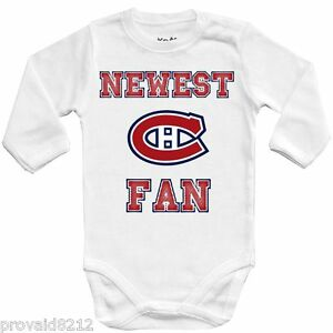new styles d943d e8c3f Details about Baby bodysuit Newest fan Montreal Canadiens, NHL, UNISEX One  Piece jersey Shower