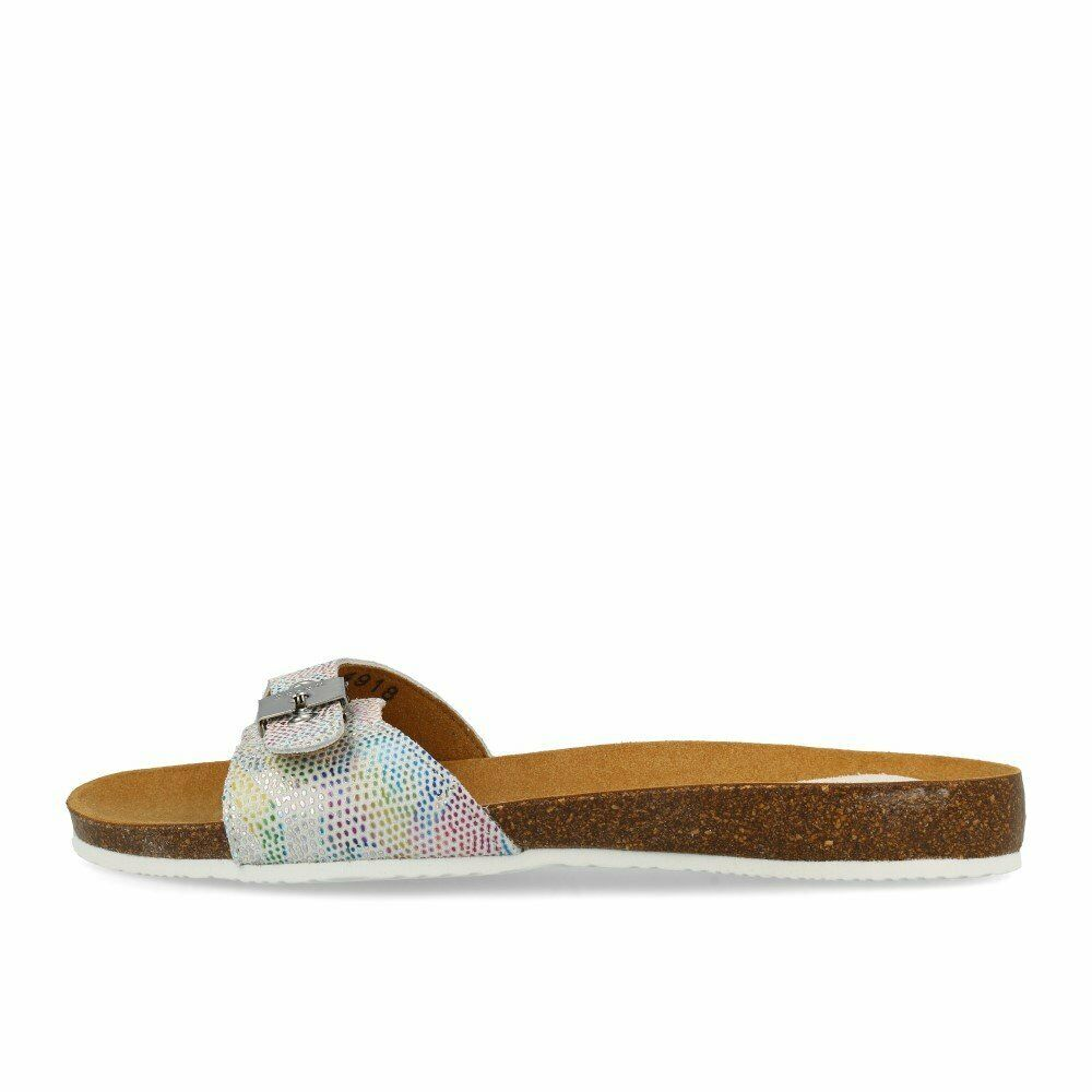 Scholl Bahama 2.0 Off blanc chaussures Sandales Mules blanc MultiCouleure