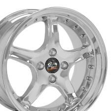 17x8 Amp 17x9 Rims Fit Mustang 4 Lug Cobra R Dd Chrome Wheels Set