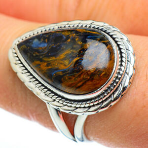 Pietersite-925-Sterling-Silver-Ring-Size-8-5-Ana-Co-Jewelry-R46402F
