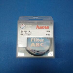HAMA-M52-Filtre-Skylight-1A-MC-LA-10-52-mm-UV-Absorber