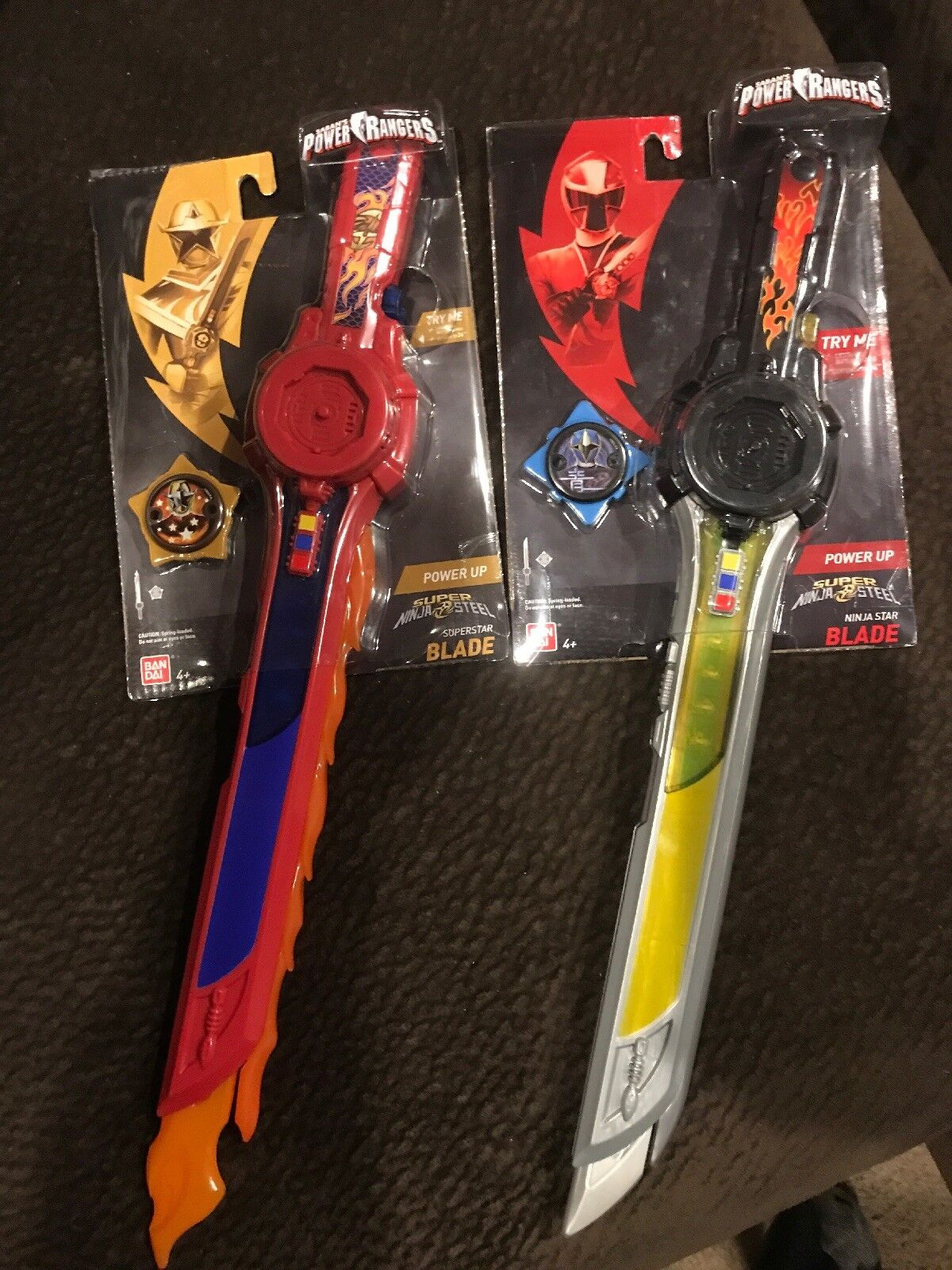 Power Rangers Super Ninja Steel Superstar & Ninja Star Blade Swords New Read