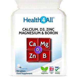 D3, Calcium, Zinc, Magnesium & Boron Tablets | EXCELLENT COMBINATION OF MINERALS