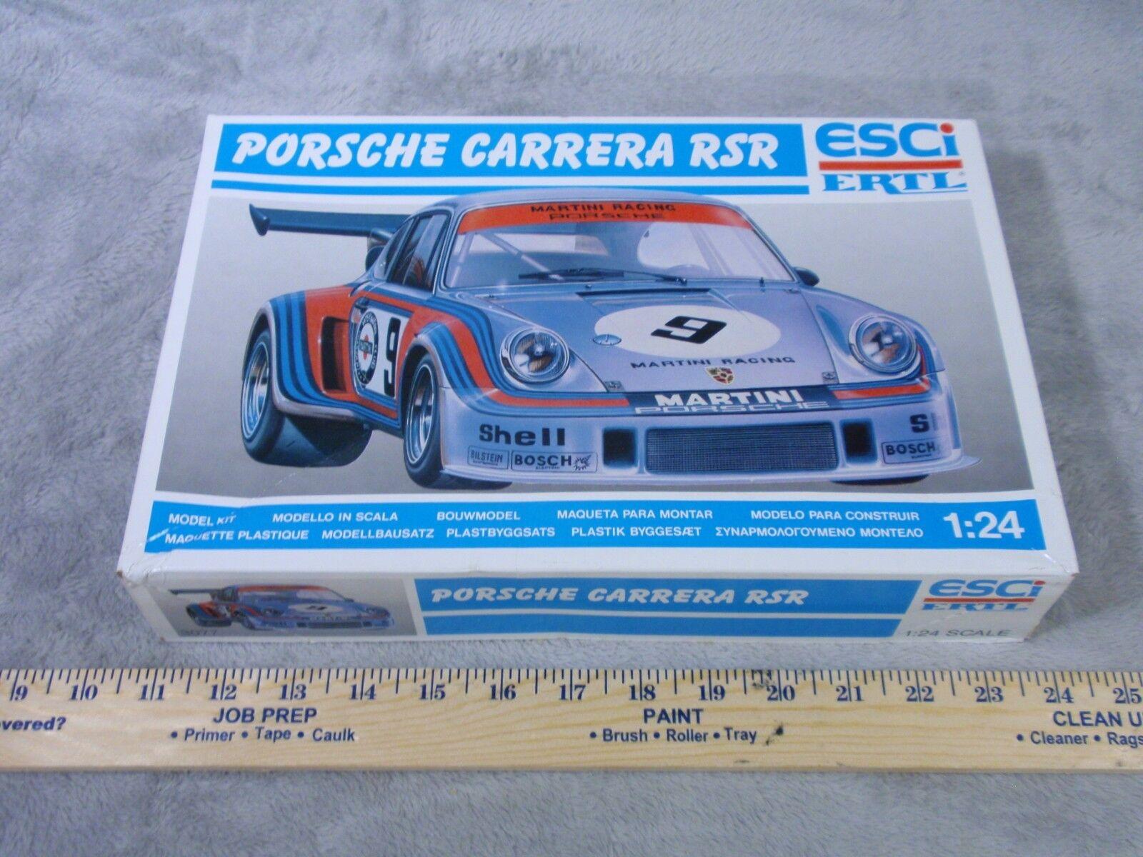 ESCI ERTL Porsche Carrera RSR 1 24 Scale Plastic Model Car Kit Vintage