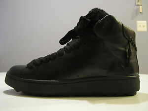 COACH-MENS-SHEARLING-BLACK-HIGH-TOP-SNEAKERS-SIZE-9D