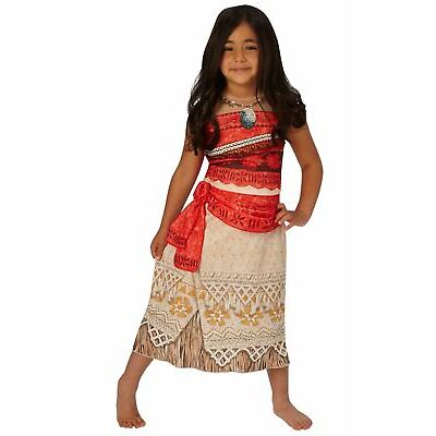 Girls Classic Moana Costume Hawaiian Disney Princess Fancy Dress Book Day Outfit