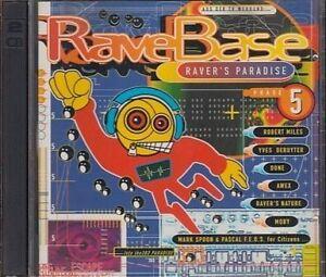 Rave-Base-5-1996-Hitch-Hiker-Robert-Miles-Yves-Deruyter-Lunatic-As-2-CD