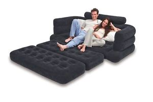 Image Is Loading NEW Inflatable Couch Blow Up Sofa Camping Double