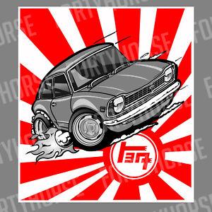 Japanese Car Vinyl Stickers - Toyota Corolla KE20 Rising ...